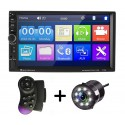 "MP5 Player Auto Universal 7018B, WinCE, Camera Marsarier, Ecran HD Touch 7"", Comenzi Volan, Telecomanda, MirrorLink, Bluetooth"
