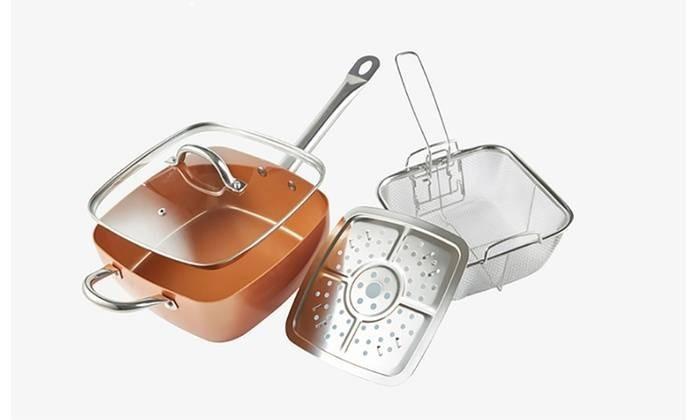 Tigaie patrata Copper Pan imagine techstar.ro 2021