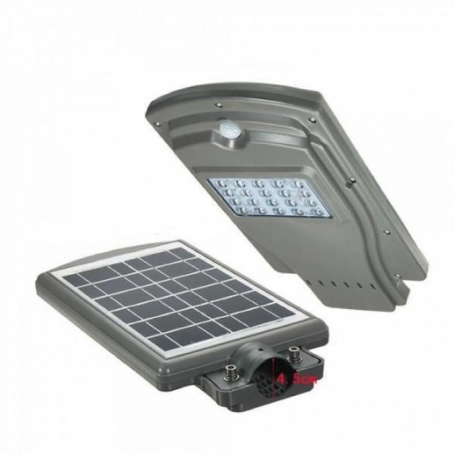 Lampa Stradala Proiector LED 20W cu panou solar si senzor de miscare imagine techstar.ro 2021