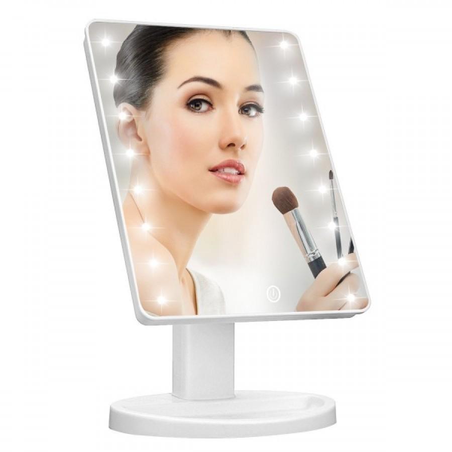 Oglinda cosmetica iluminata, cu Touch si rotire imagine techstar.ro 2021