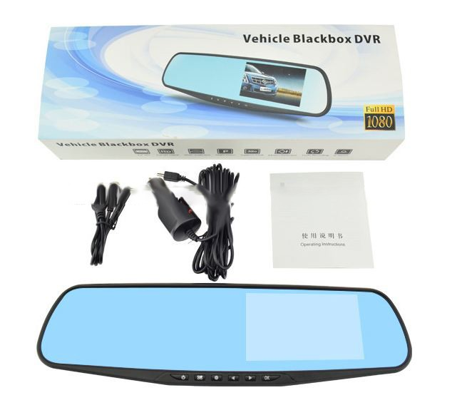 Camera Video Auto DVR Oglinda L802 Discreta Display 4.3inch Filmare FullHD, Universala poza 2021
