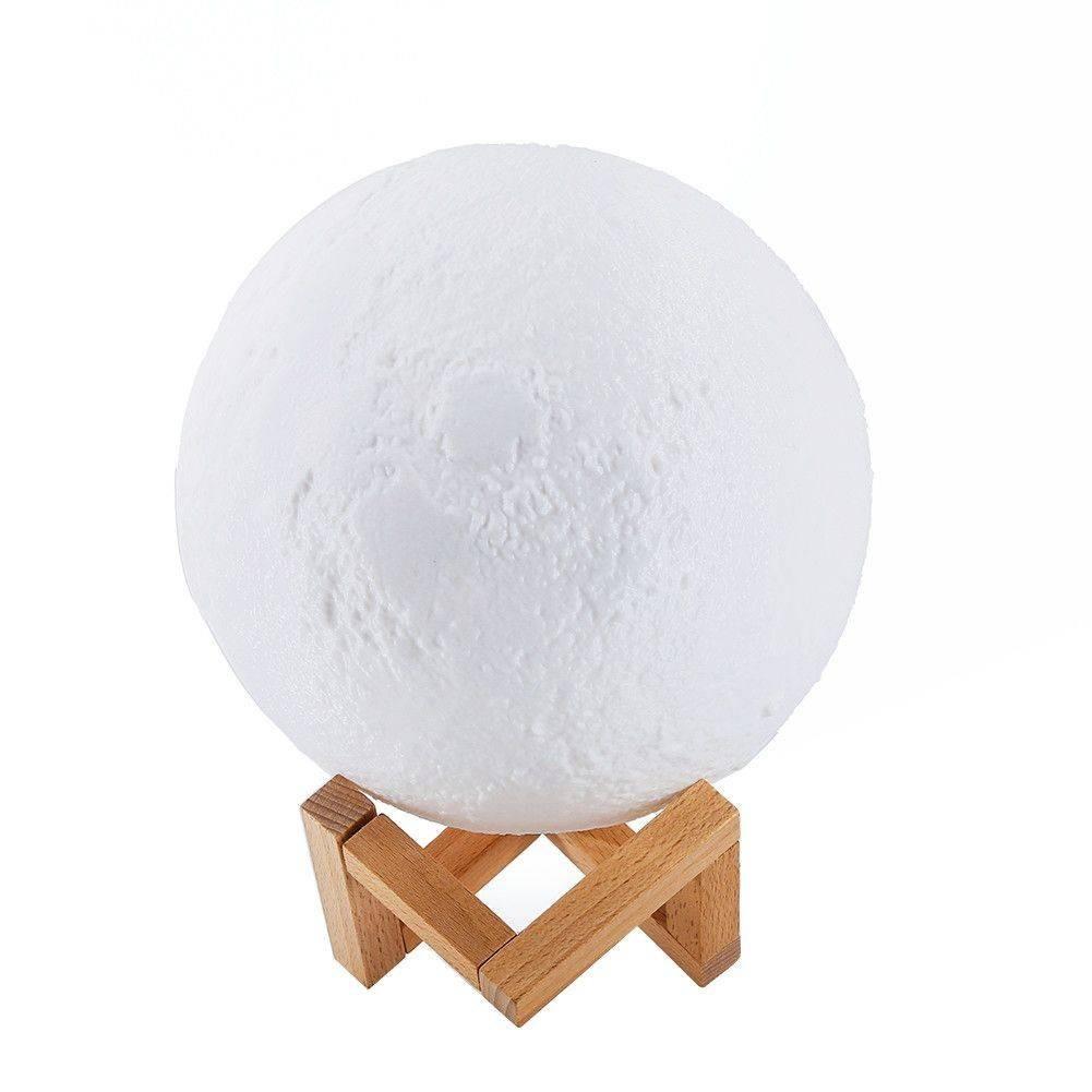Lampa 3D in forma de luna Moon Lamp imagine techstar.ro 2021