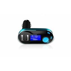 Modulator FM si Car Kit, BG01 cu Telecomanda, compatibil MicroSD, 2x USB, jack 3.5mm