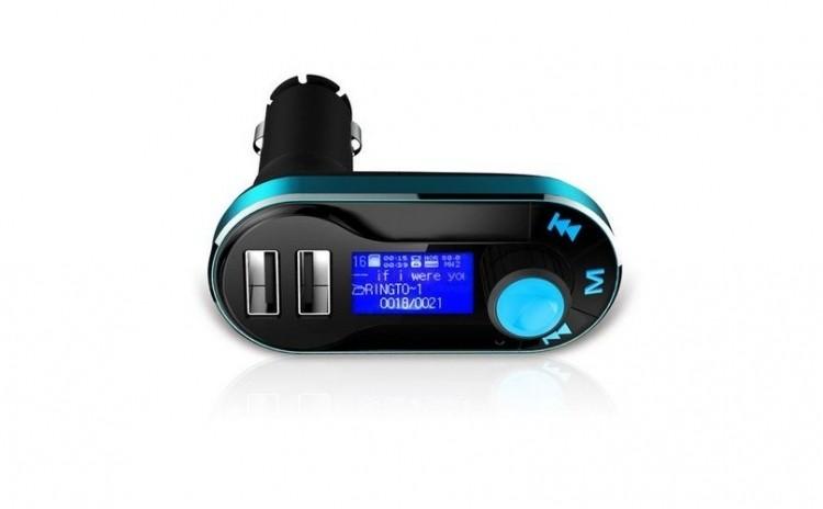 Modulator FM si Car Kit, BG01 cu Telecomanda, compatibil MicroSD, 2x USB, jack 3.5mm imagine techstar.ro 2021
