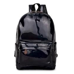 Rucsac holographic, casual sau pentru scoala, pentru femei sau fete, negru