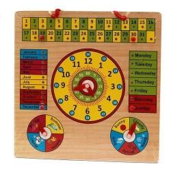 Jucarie educativa calendar, ceas, anotimpuri