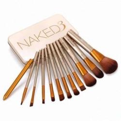 Set 12 pensule profesionale pentru machiaj, Naked3