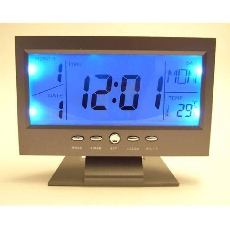 Ceas cu ecran LCD si control vocal imagine techstar.ro 2021