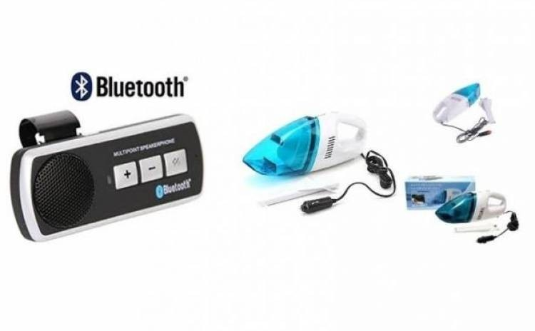 Pachet promo:Car kit auto cu Bluetooth+Aspirator auto imagine techstar.ro 2021