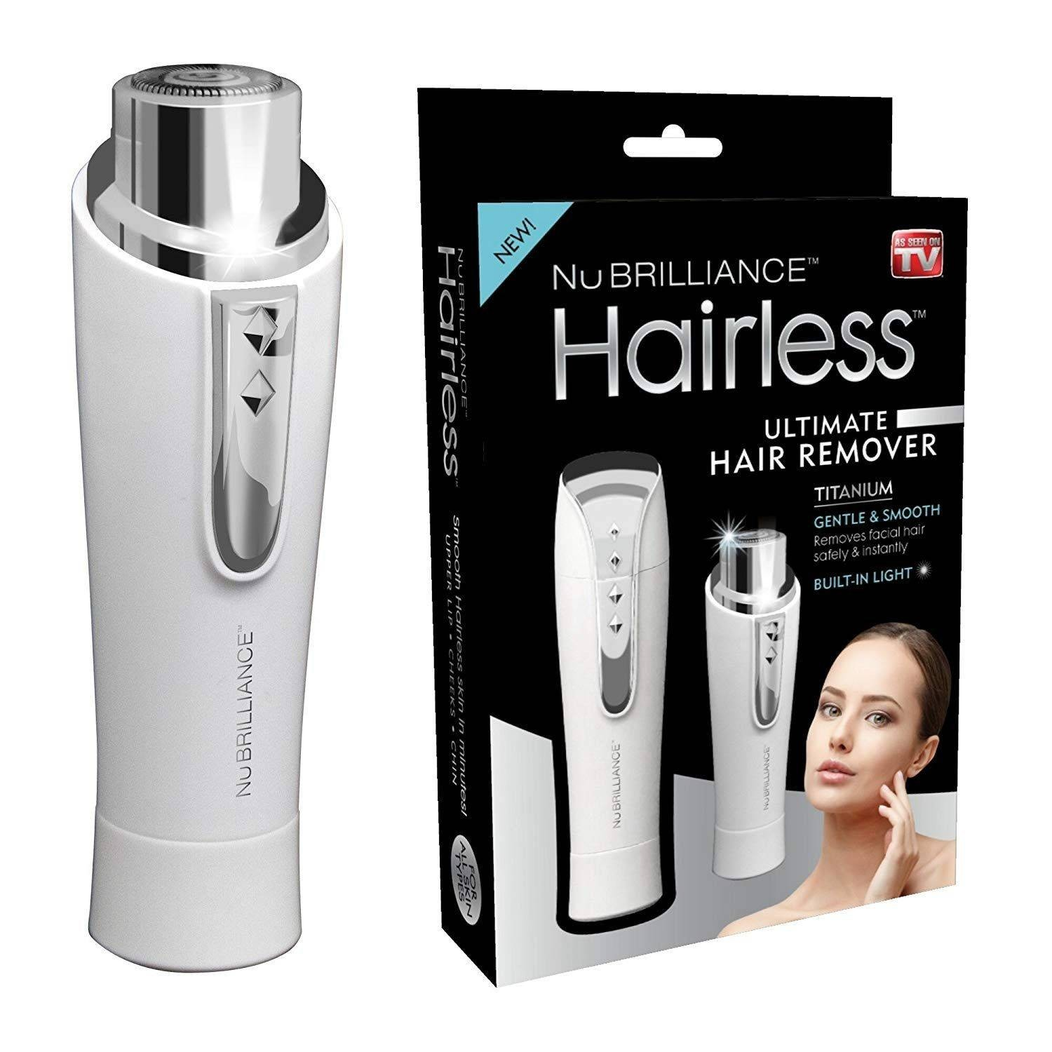 Epilator facial portabil, HairLess Titanium imagine techstar.ro 2021