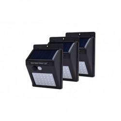 Set 3 Lampi solare cu senzor de miscare, 30 LED-uri