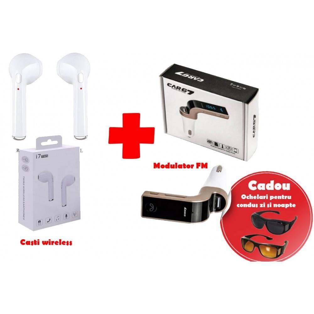 Casti Wireless+Modulator Bluetooth+Ochelari pentru condus imagine techstar.ro 2021
