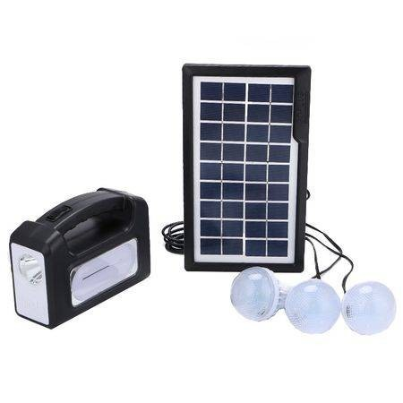 Kit panou solar Gdplus GD-7, 3 becuri, lanterna inclusa imagine techstar.ro 2021