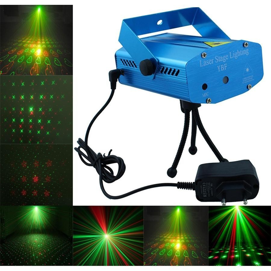 Mini Proiector Laser tip DPPS cu efect de artificii, luminite verzi si rosii pentru interior imagine techstar.ro 2021