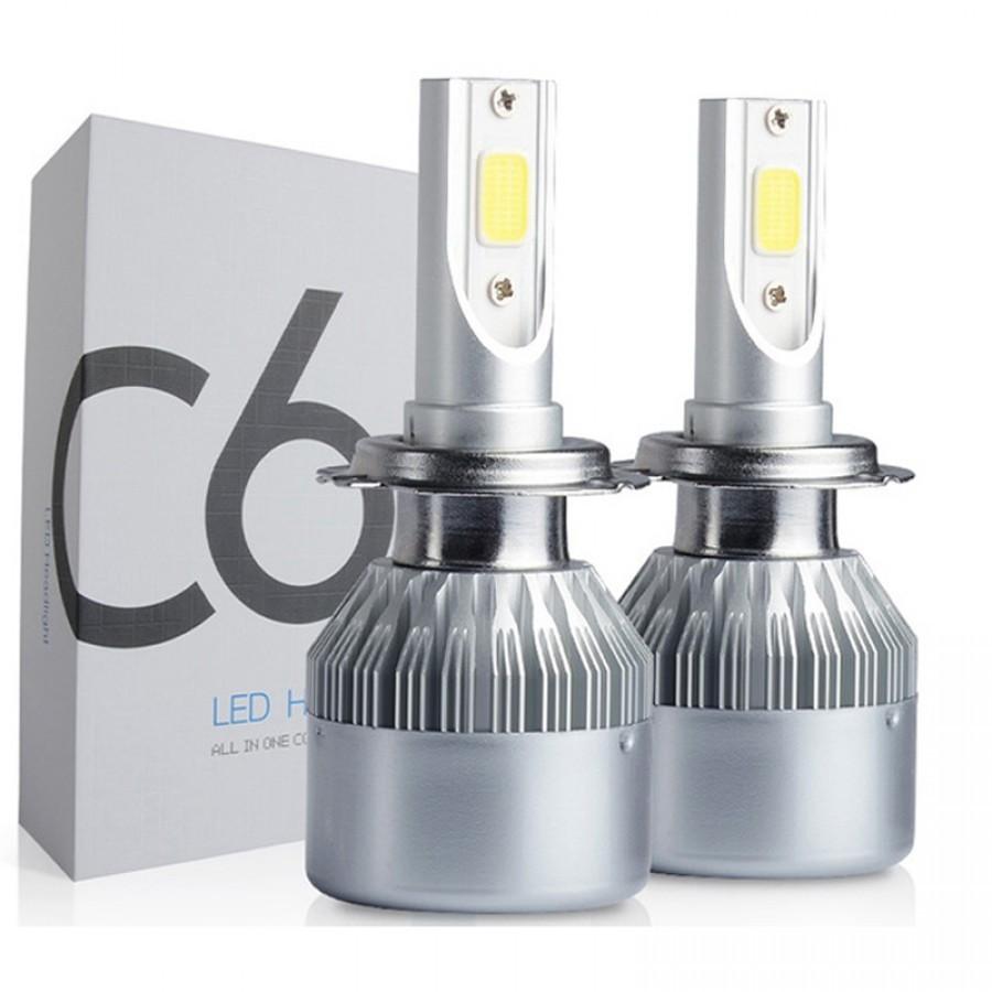 Set 2 Becuri LED C6 Auto H7, 6000K, 36 W, 3800 Lm imagine techstar.ro 2021
