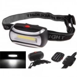 Lanterna de cap cu trei faze de iluminare, putere 5W, curele reglabile elastice
