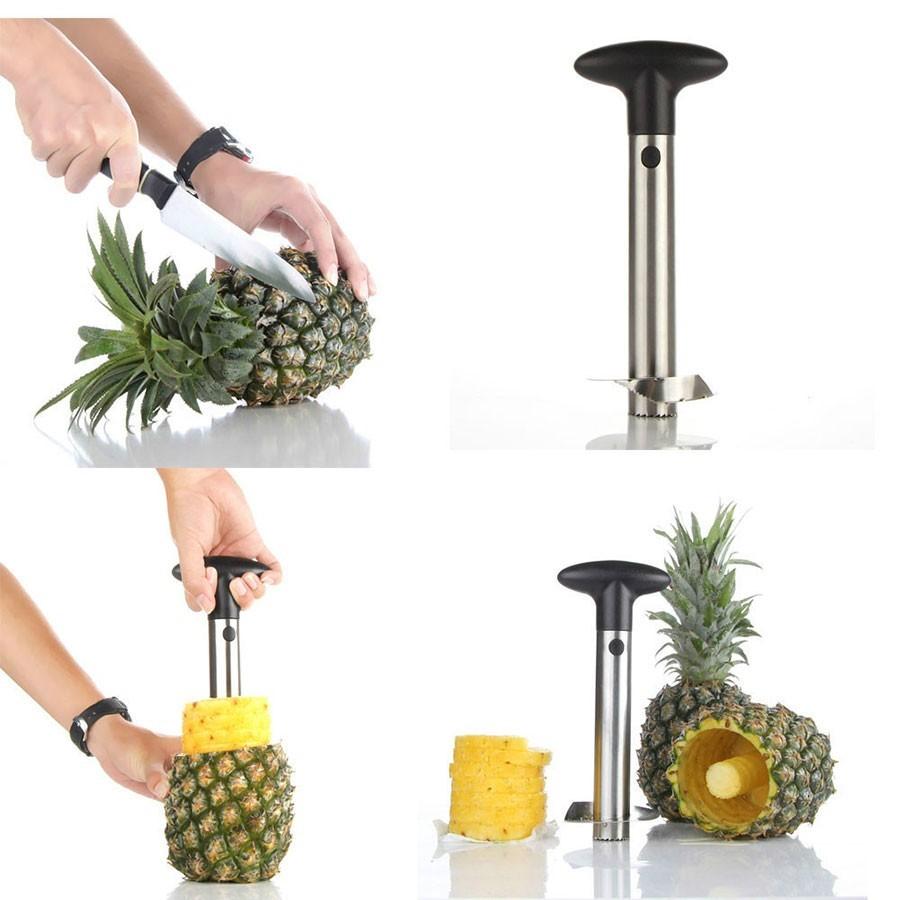 Taietor pentru ananas, decojire, golire si feliare imagine techstar.ro 2021