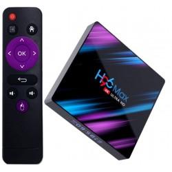 Mini PC TV Box H96 Max, UltraHD 4K, Android 9.0, 60fps, 4GB RAM, 64GB ROM, 5G WiFi, Bluetooth 4.1, Cu IPTV