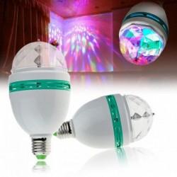 Bec disco rotativ cu led RGB E27