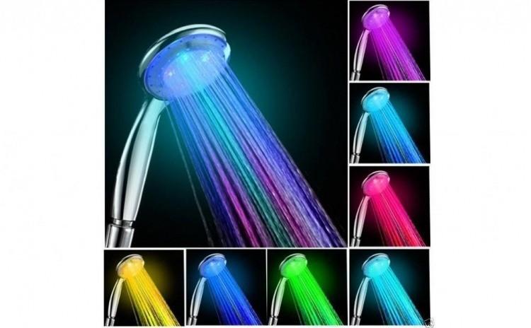 Cap de dus cu 3 culori, in functie de temperatura apei Albastru-apa rece, Verde-apa calda, Rosu- Fierbinte imagine techstar.ro 2021