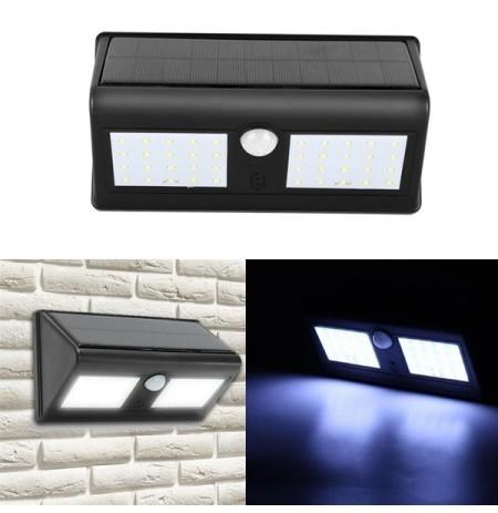 Lampa solara dubla de perete, cu senzori de miscare si 30 LED-uri imagine techstar.ro 2021