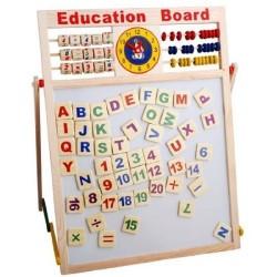 Tabla educativa de scris din lemn
