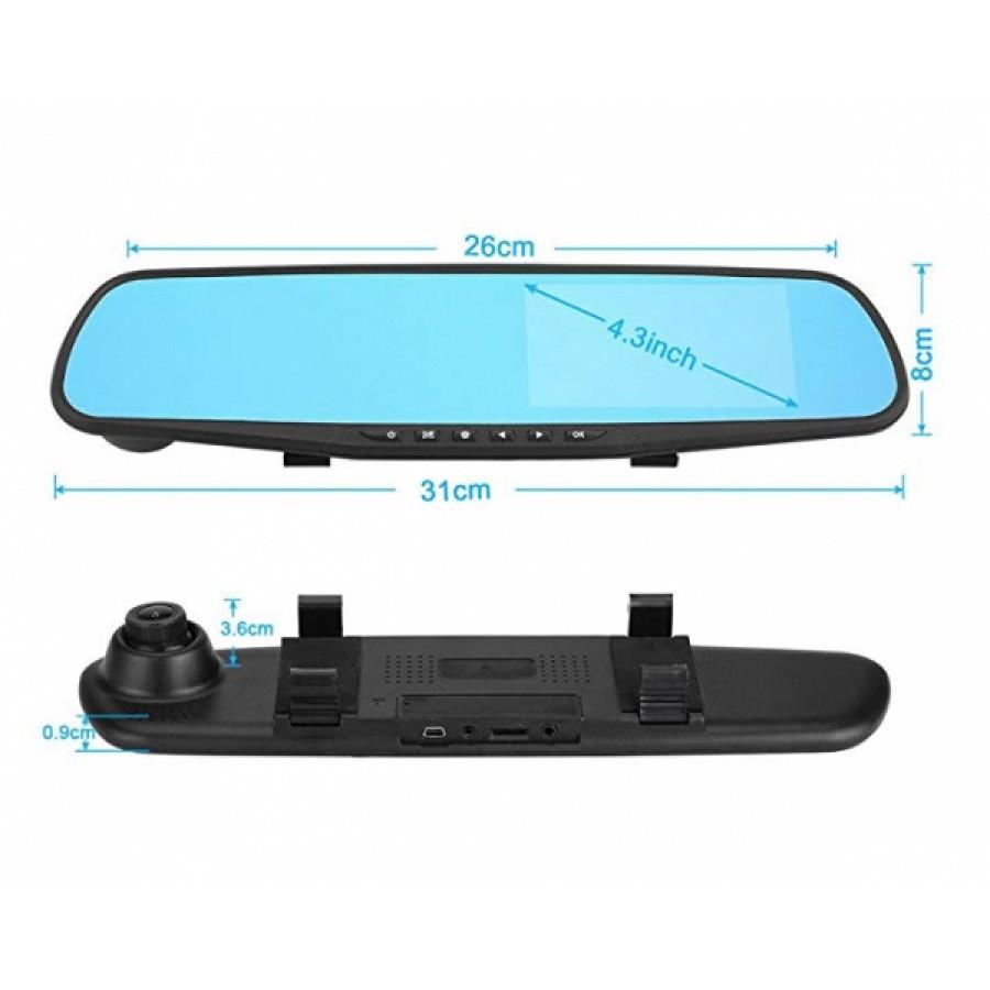Oglinda auto cu 2 camere video fata, spate pentru, inregistrare in trafic