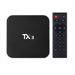 Mini PC TV Box TX3, Android 9, 8K, 2GB + 16 GB ROM, Procesor Quad Core, Wi-Fi, Bluetooth, HDMI, Ethernet