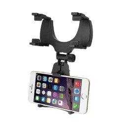 Suport pentru telefon cu oglindă retrovizoare auto Suport pentru telefon mobil reglabil la 360 de grade +CADOU