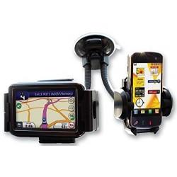 Suport auto pentru telefon dublu pentru telefon si GPS+CADOU