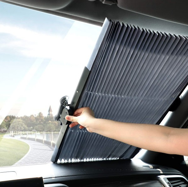 Parasolar auto retractabil impotriva razelor UV, fixare prin ventuze imagine techstar.ro 2021