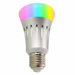 Bec Smart Techstar® Q15, Wireless, 2.4GHz, RGBW, 7W, E27, Lumina Calda, Lumina Rece, Corp Aluminiu