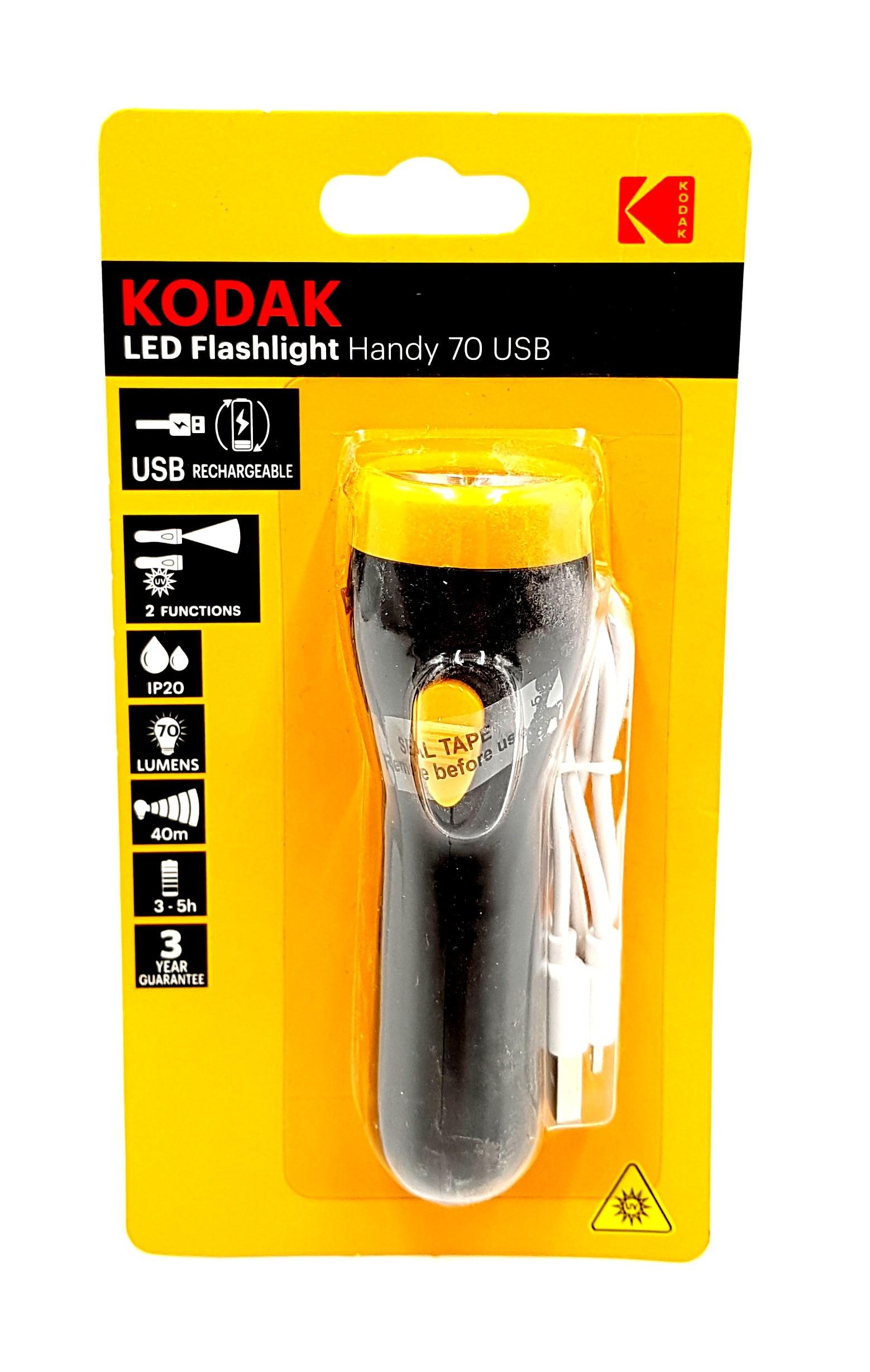 Lanterna LED KODAK Handy 70 USB imagine techstar.ro 2021