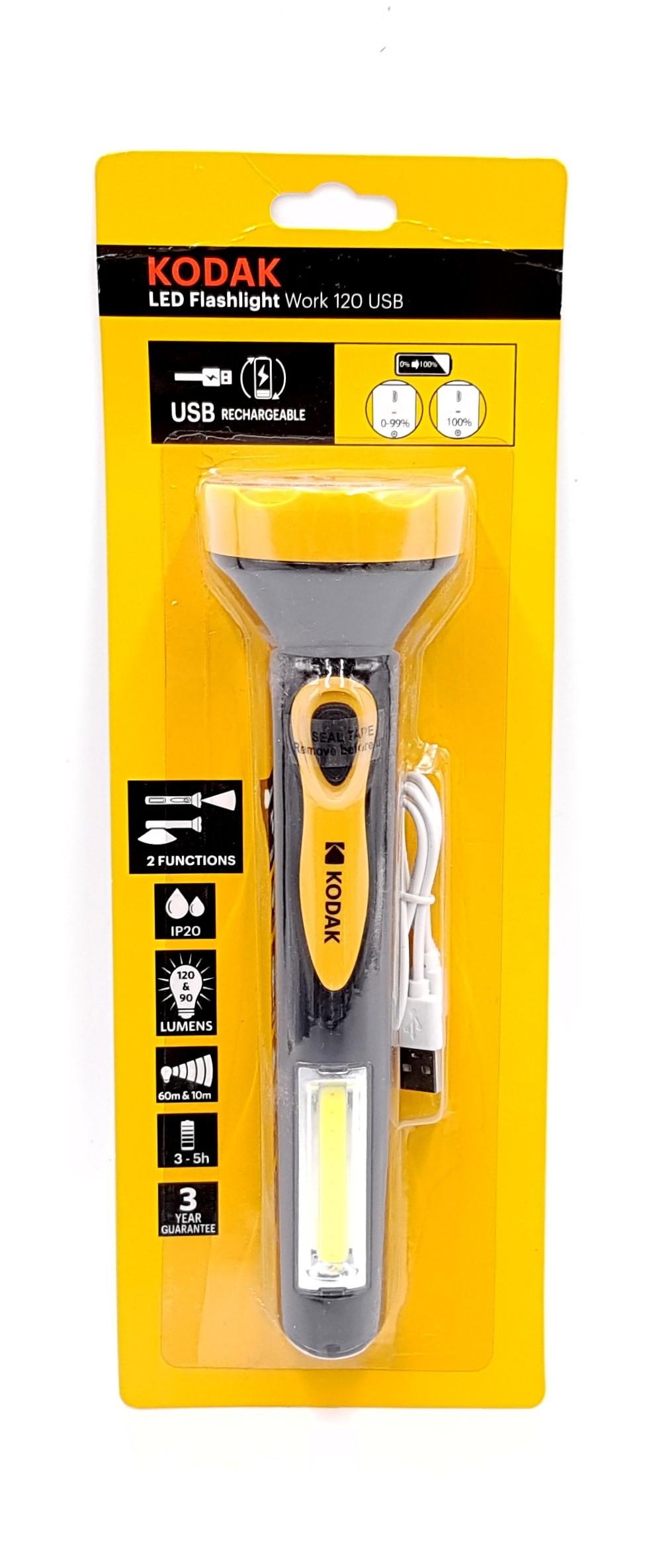 Lanterna LED KODAK Work 120 USB imagine techstar.ro 2021