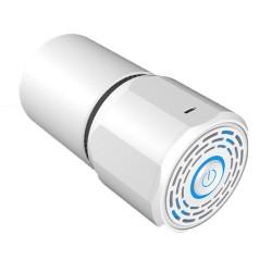Purificator Aer Techstar® TP45, Carbon Activ, Filtru HEPA, Filtru Catalist, Pentru Interior Auto sau Locuinte, Alb