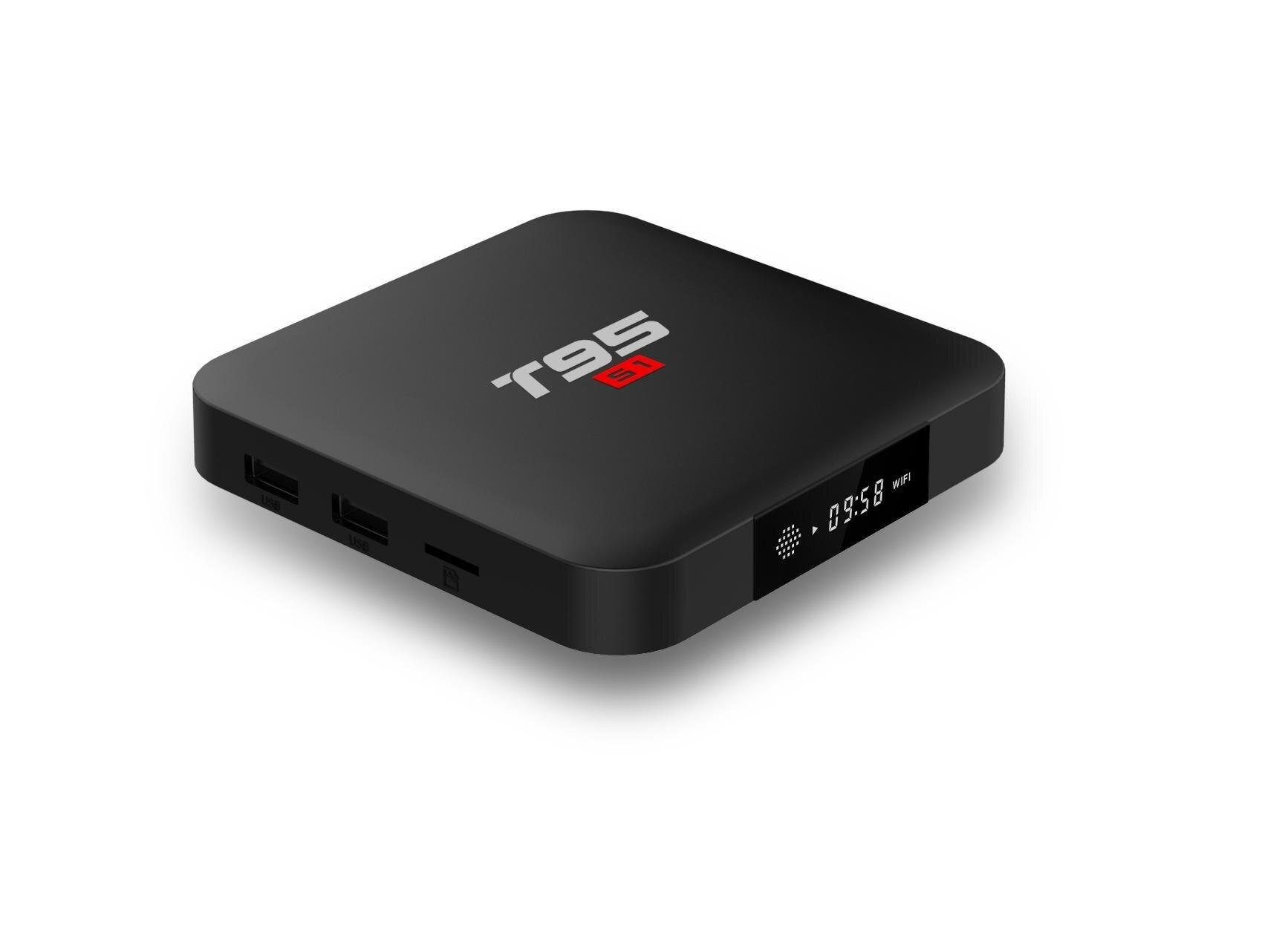 Mini PC, TV Box T95 S1, 4K, Android 7.1, 1GB RAM, 8GB ROM, Allwinner S905W, Quad Core, Mali-450, USB 2.0, WiFi imagine techstar.ro 2021