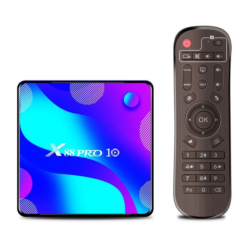 TV Box X88 Pro10, 4K, HDR, Android 10, 2GB RAM, 16GB ROM, Rockchip RK3318, Quad Core, WiFi 5G+2G, Bluetooth 4.0, USB 3.0 imagine techstar.ro 2021