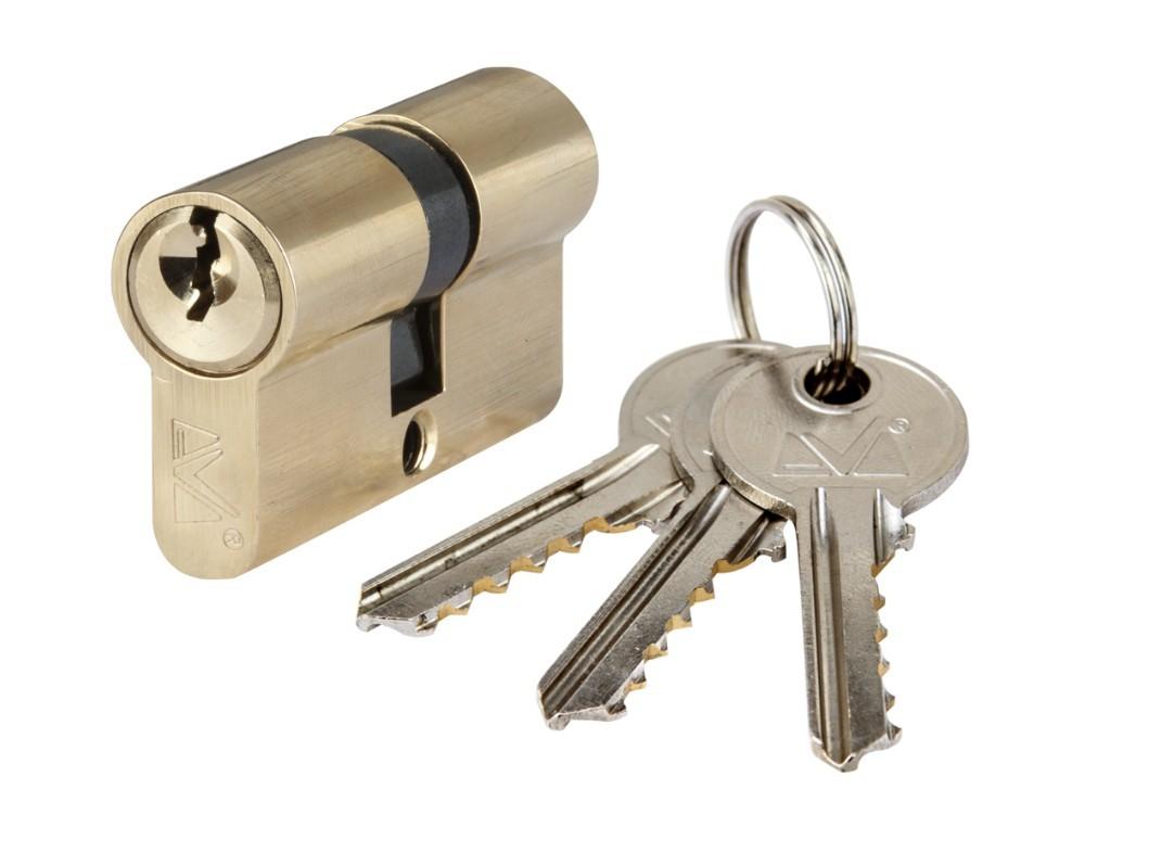 Cilindru Alama ETS, Lungime:85mm, Tip:Descentrat, Dimensiuni:35+50, Culoare: Nichel Periat