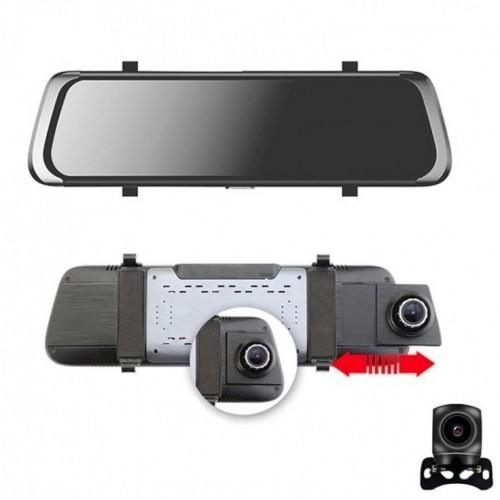 Camera video auto FullHD, dubla, tip oglinda 10 inch unghi 170 grade imagine techstar.ro 2021