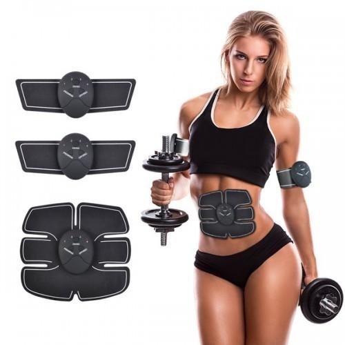 Aparat fitness cu electrostimulare pentru abdomen, brate, talie si picioare poza 2021