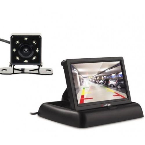 Camera auto video marsarier cu 4 LED si Monitor LCD pliabil de 4.3 inch imagine techstar.ro 2021