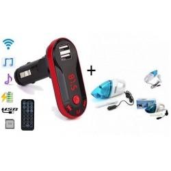 Modulator FM mp3 cu port USB + Aspirator Auto
