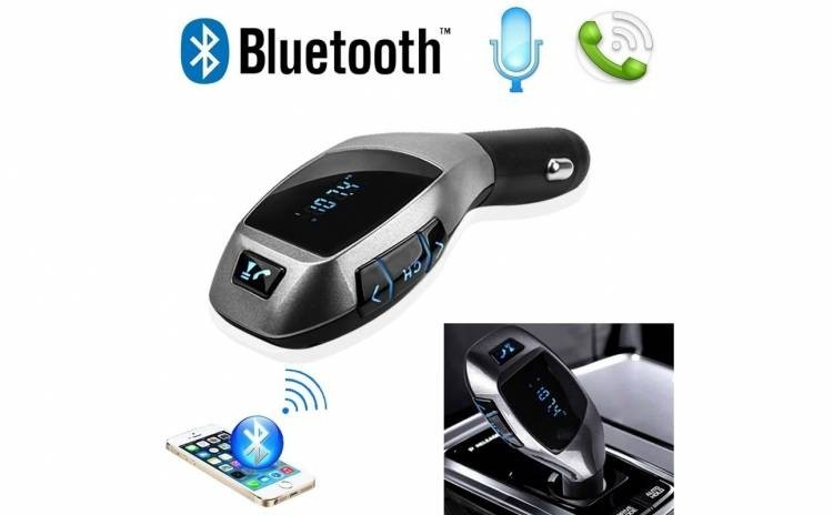Car Kit auto, functie de modulator Fm, Bluetooth, X6 imagine techstar.ro 2021