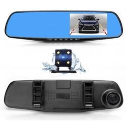 "Camera Video Auto Dubla Tip Oglinda Full-HD 1080p Display 4.3"", Mod Parcare, G Senzor, Detectie Miscare"