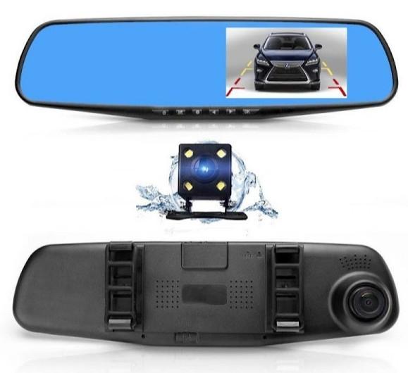 "Camera Video Auto Dubla Tip Oglinda Full-HD 1080p Display 4.3"""", Mod Parcare, G Senzor, Detectie Miscare imagine techstar.ro 2021"