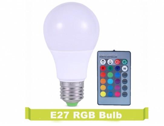Bec Led, RGB(multicolor),7W, E27 control de la distanta - Telecomanda inclusa imagine techstar.ro 2021
