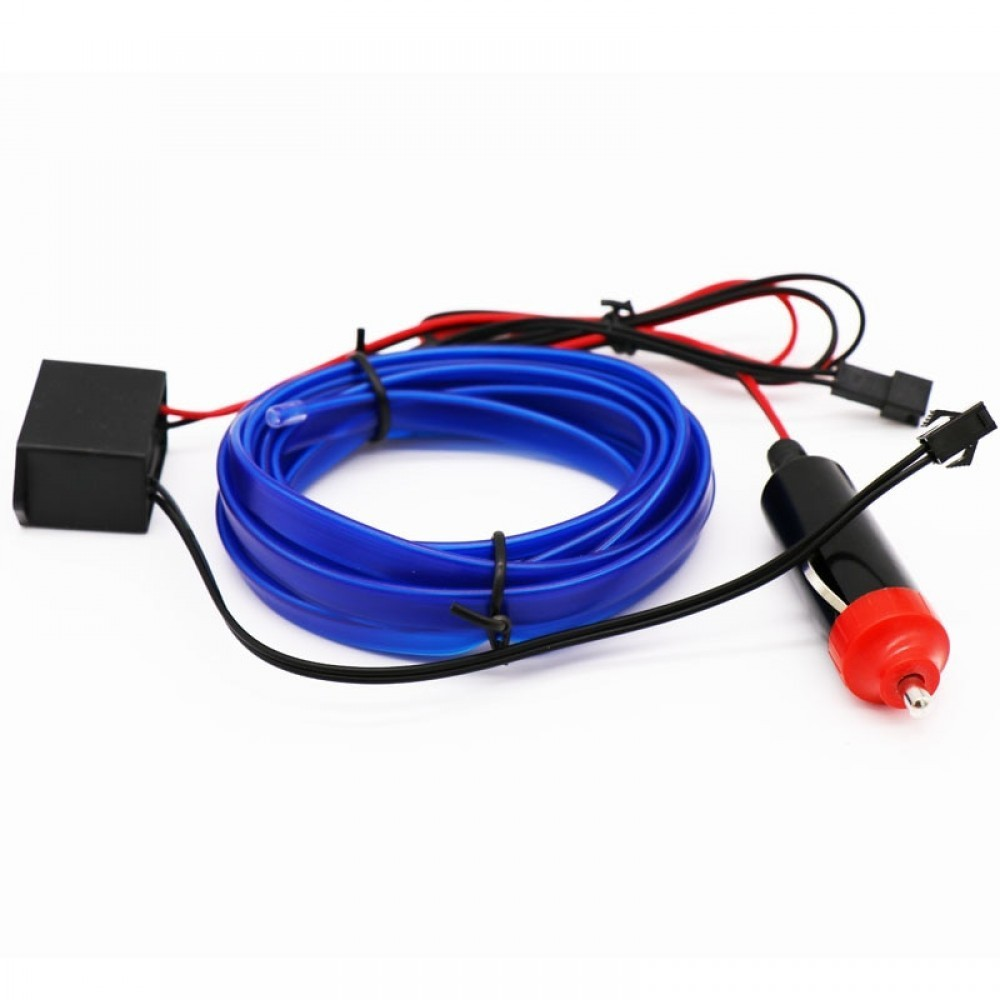 Fir neon luminos ambiental, EL Wire, 2m lungime imagine techstar.ro 2021