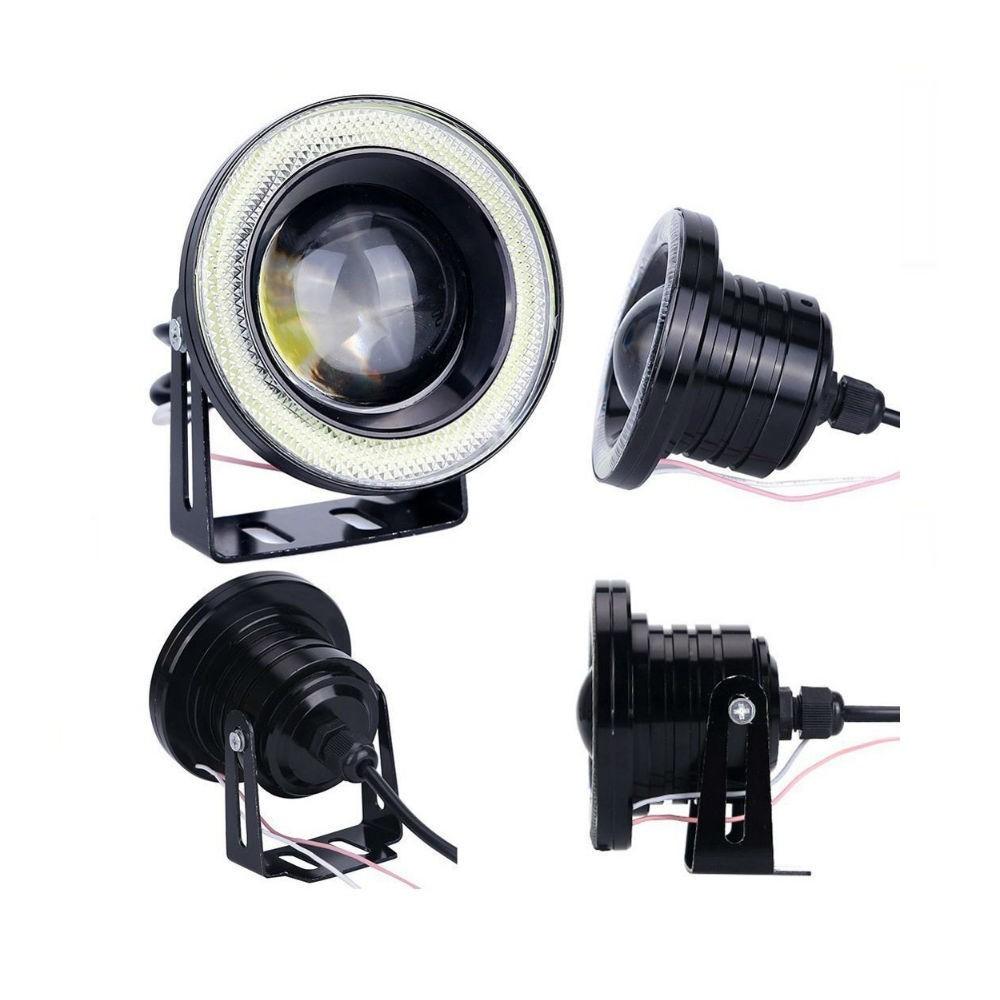 Set 2 proiectoare LED cu lupa si Angel Eyes 76mm imagine techstar.ro 2021