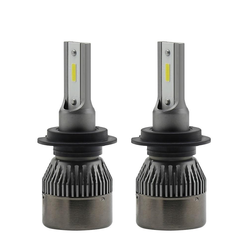 Set becuri LED auto R6 mini, 36W, 7600Lm, 6000k - HB4 - 9006 imagine techstar.ro 2021