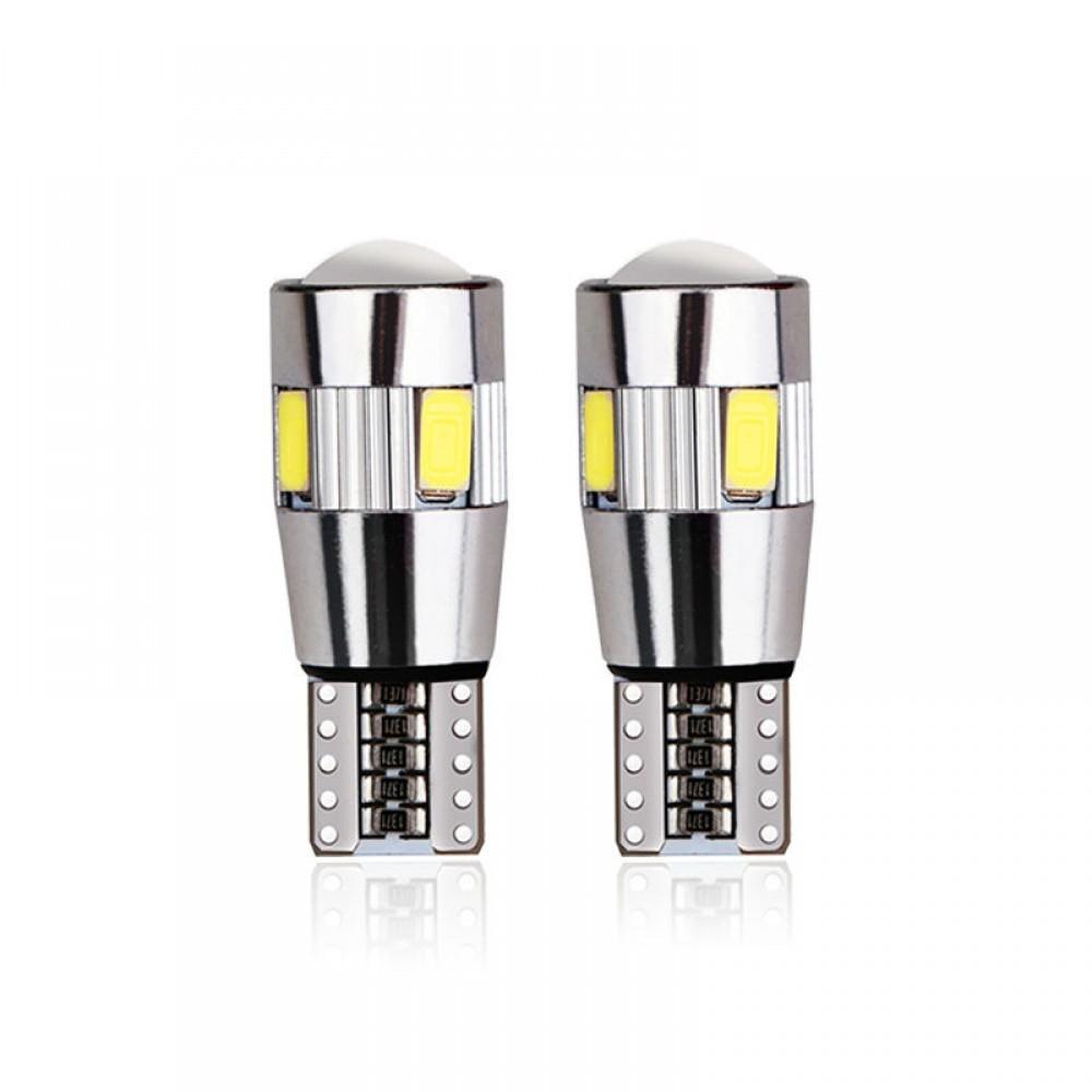 Set becuri LED T10 - W5W, 5 SMD, 3030, CAN-BUS, fara polaritate imagine techstar.ro 2021